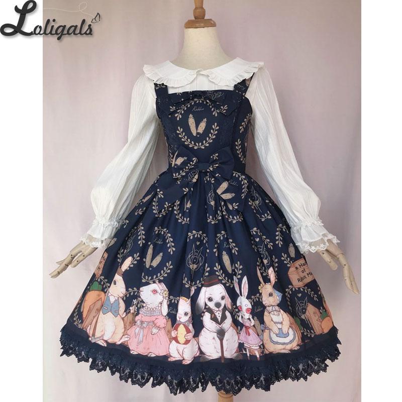 Bunnys Harvest Season Sweet Printed Lolita JSK Dress by Yiliya