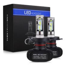 S1 H4 светодио дный H7 H11 светодио дный H1 авто фар 50 Вт 8000LM 6000 К 9005 HB3 9006 HB4 автомобильных фар лампы все в одном CSP лампа
