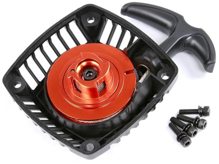 Gas Engine 32cc 35cc 30.5cc 29cc metal turbine reel special easy start pull starter losi HPI Rovan KingMotor Baja 5B 5SC 5T 5R hpi baja losi gas engine 23cc 26cc 29cc 30 5cc up to 36cc conversion kit clutch cover crankshaft cylinder piston flywheel