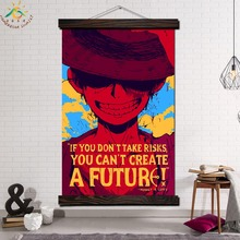 One Piece Monkey D Luffy Modern Wall Art Print Pop Picture And Poster Frame Hanging Scroll Canvas Painting Home Decoration