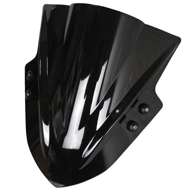 ユニバーサルオートバイストリートバイク風防ウインドスクリーン用スズキグラディウス650 sfv650 gsr750 z GSX S 1000ブラッククリアイリジウム  グループ上の 自動車 &バイク からの フロントガラス & ウィンドディフレクター の中 1
