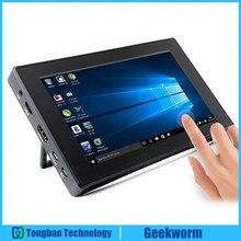 """Raspberry Pi 4 Model B/ 3B +/ 3B 7 cali 1024x600 IPS pojemnościowy ekran dotykowy 7 """"wyświetlacz monitora w/wspornik etui Menu OSD"""