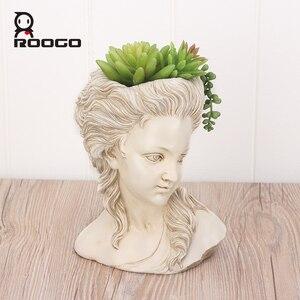 Image 1 - ROOGO thực vật mọng nước hoa đầu thanh lịch nữ Thần Hy Lạp cây cảnh Dụng cụ bào vườn nồi tay thợ thủ công Nhà Máy tính để bàn trang trí