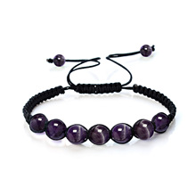 Natural crystal stone beads jewelry Tiger  hand-woven bracelet