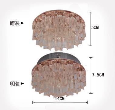 5W kristalne svjetiljke LED stropne svjetiljke svjetiljke za hodnik - Unutarnja rasvjeta - Foto 6