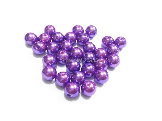 (Choose Size First) 6mm 8mm 10mm 12mm 14mm 16mm 18mm 20mm 23mm 25mm  Purple  Acrylic Imitation Pearl Beads f2322650fb64