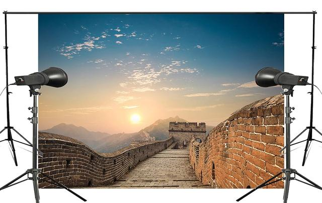 Telón de fondo de fotografía de 150x220 cm de fondo de estudio fotográfico de paisaje Natural de la Gran Pared de China espectacular