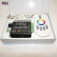 DC12 24V 18A RF Remote RGB led strip Music 2 Controller Intelligent Sonic Sensitivity Audio control for 3528 5050 5630 Led light
