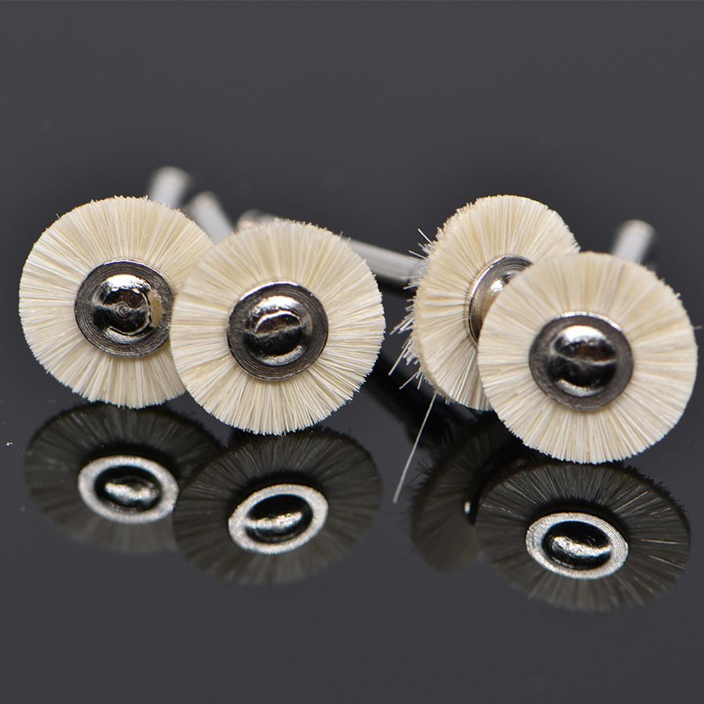 Image 4 - 10Pcs/lot Dental Polishing Wheel Wool Cotton Polishing Polisher Prophy Brushes Polishers for Rotary Tools Jewelry Buffing 2.35mmDental Drills&Brushes   -