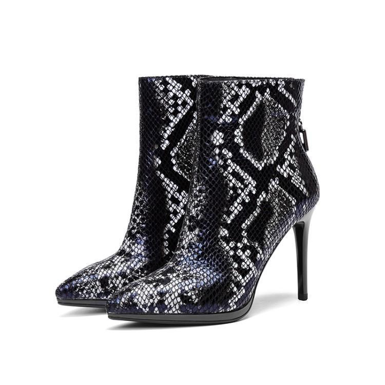 8e3e4056ab39 Femme Noir Motif Serpent Piste Retour Chaussures Talons En Python Rouge  Cuir De Luxe Femmes rouge ...