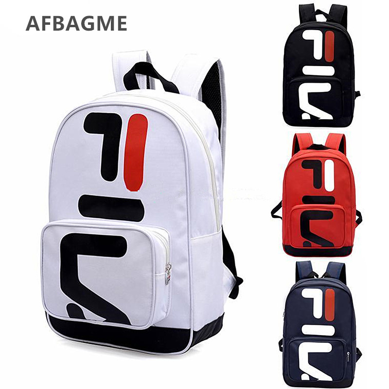 AFBAGME Couple Backpack Computer-Bag Letter Unisex Fashion Brand Casual Wholesale
