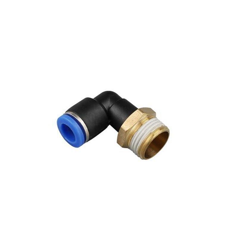 3//8 BSPT Rosca Macho 90 grados tubo de codo rápida Accesorios neumática 6 mm PL6-03