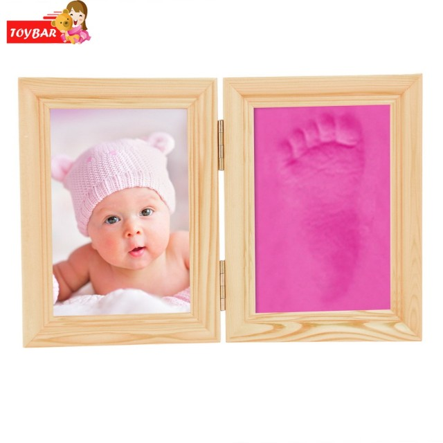 New Baby Care Air Drying Soft Clay Baby Handprint Footprint Imprint Kit Casting Light Hand Print Inkpad Fingerprint
