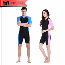 Лайкровый гидрокостюм Stinger костюмы для дайвинга для мужчин или женщин Цельный короткий рукав комбинезон купальник купальники пляжная одежда