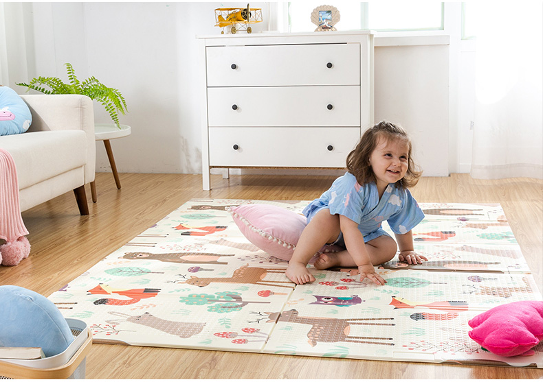 HTB1yCGOcvWG3KVjSZFgq6zTspXaF Infant Shining Baby Play Mat Xpe Puzzle Children's Mat Thickened Tapete Infantil Baby Room Crawling Pad Folding Mat Baby Carpet