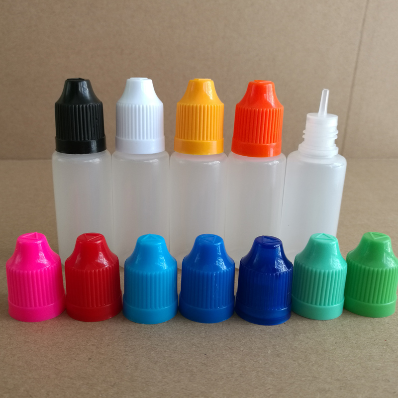 15ml LDPE Plastic Bottles Soft Dropper Bottle with CHILD Proof Caps long thin Tips for E