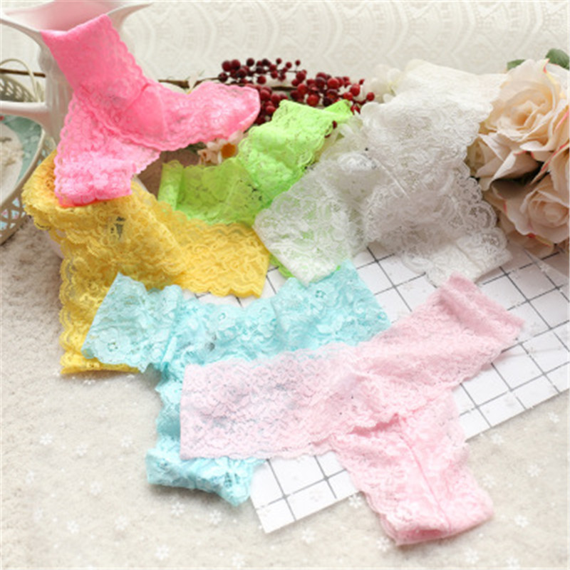 1PCS Kids Girls Underwear G String Calcinha Infanti Kids Thong Underwear Girl Briefs Sexy Lace Transparent Children's Thongs