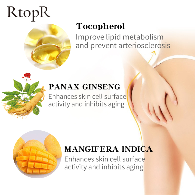 RtopR  Mango Sexy Buttock Enhancement Cream Improves Back And Leg Pain Eliminate Printing And Firming buttock Shape Hip Curve 2