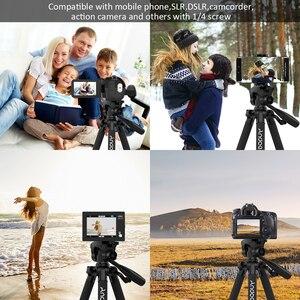 Image 4 - Штатив для фотоаппарата Andoer, штатив для фотосъемки, видеокамеры DSLR SLR с сумкой для переноски, зажим для телефона, аксессуары