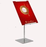 Adjustable Poster Banner Display Stand Rack Poster Holder For A4 A3 Kt Advertising Board Metal Sign