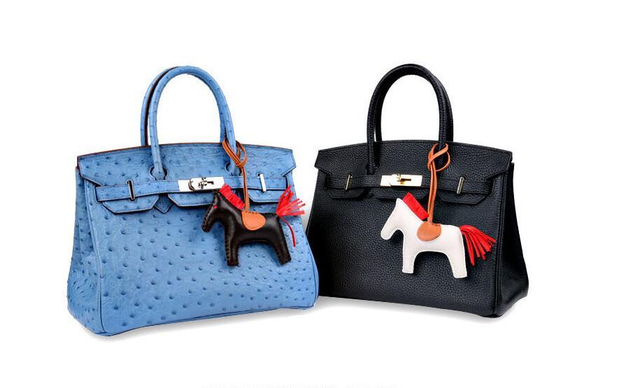 Real Leather Horse Luxury Bag Charm Car Pendants ...