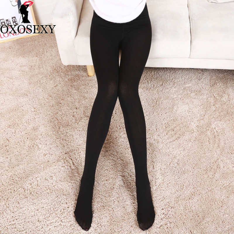 a7b74a49c07 9 Color Black Skin Hot Classic Sexy Women Opaque Footed Tights Plus Size  Pantyhose Thin Tights