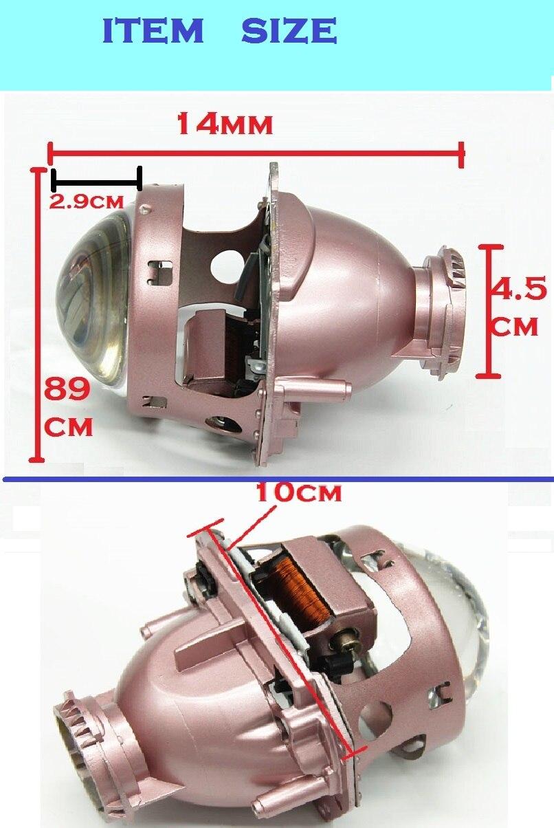 Auto styling 3,0 zoll LHD champagner bi xenon D1S D2S D3S D4S hid xenon objektiv für scheinwerfer - 3