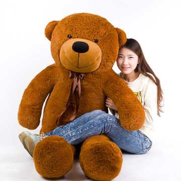 цена на Stuffed animal 140cm dark brown Teddy bear plush toy soft doll throw pillow gift w1689