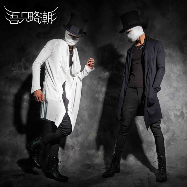 2020 New Men's Clothing Spring And Autumn Long Coat Male Personality Slim Cardigan Sweater Nightclub Outerwear Costumes