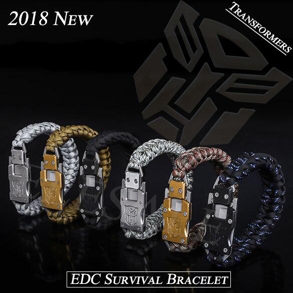 Dropshipping 2018 Self Defense Multi Functional EDC Tools Tactical Umbrella Rope Bracelet Outdoor Survival Camping Bracelet