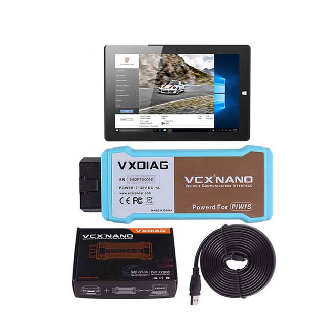 US $650 0 |Original VXDIAG VCX NANO for Porsche Piwis Tester V17 5 With  Win10 Tablet PC/Wifi Version DHL FREE-in Code Readers & Scan Tools from