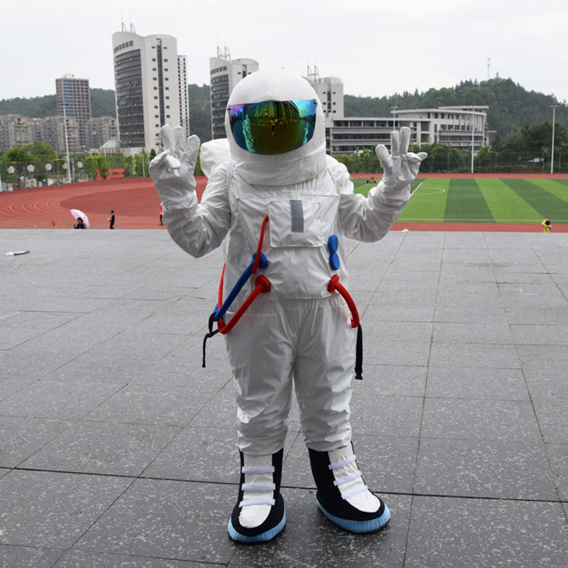 Kind-Hearted Hot Space Suit Mascot Costume Astronaut Mascot Costume Aerospace Engineering Costume Universe Sandbox Costumes Home
