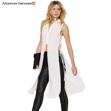 A Forever летние женские топы, белое кимоно, шифоновая кружевная рубашка, макси Топ, открытая передняя сторона, разрез, сексуальное кимоно, женская рубашка 1052
