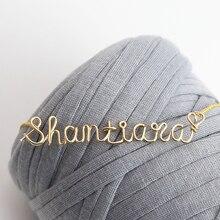PINJEAS Nombre Personalizado Wire Wrap Gargantilla Cadena Collar colgante hecho a mano accesorios de Joyería Regalos Día de la Madre s mujeres colthing