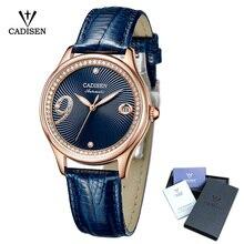 2018 Новый CADISEN Для женщин Watch Automatic Кожа из нержавеющей стали пар модные Бизнес лучший бренд класса люкс Водонепроницаемый наручные часы