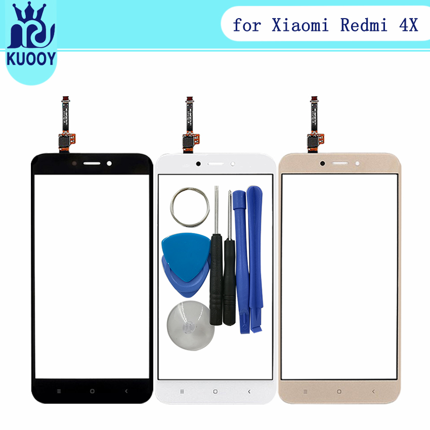 5.0'' Mobile Phone Touch Panel Screen Glass Lens for Xiaomi Redmi 4X Touchscreen Sensor Touchpad Front Glass Lens Digitizer+tool
