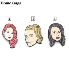 Homegaga Riverdale heroine Zinc Enamel Pins for men women para Shirt insignia Clothes backpack metal medal Badges Brooches D0993(China)