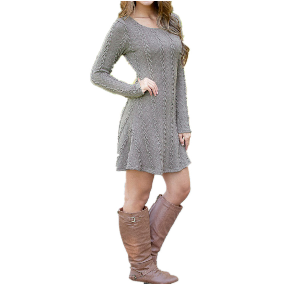 Vitiana women causal plus size s-5xl short sweater dress female ...