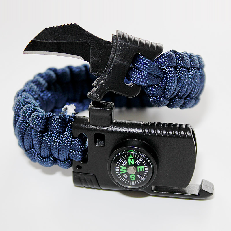 Military Emergency Paracord Bracelet Survival Parachute no flint Outdoor Scraper Whistle buckle For Jewelry Men & Women 1pcs alloy bow shape shackle for survival 110 paracord bracelet boat anchor buckle selected category tools tool parts