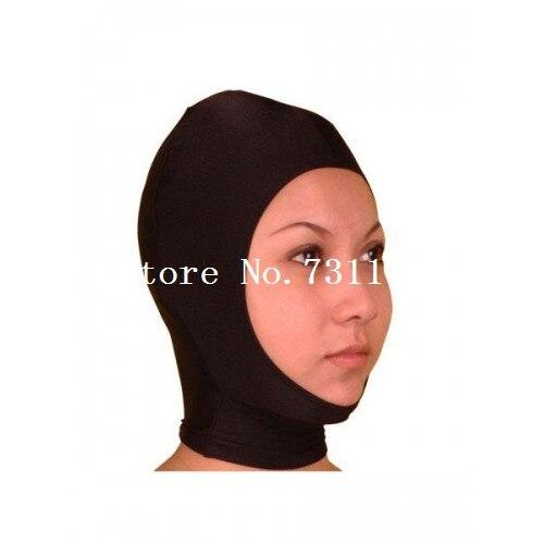Горячая Хэллоуин забавная блестящая металлическая толстовка с капюшоном «zentai» унисекс маска - Цвет: Open Face