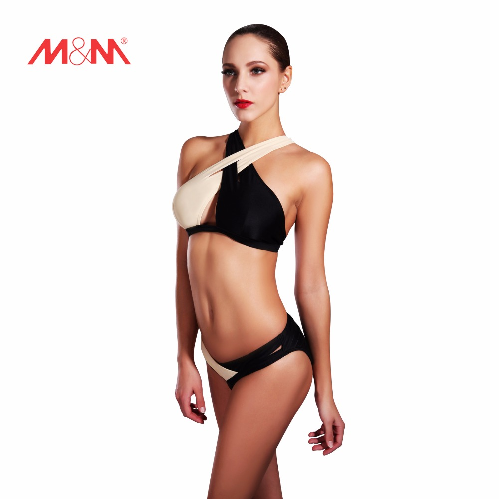 ФОТО 2016 Vintage Pathwork Extreme Sexy Bathing Suit Bikini Cross Swimsuit Bikini Set Swimwear Biquini Maillot De Bain SAKJ1623HBS
