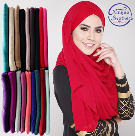 30 Color High Quality Jersey Scarf Cotton Plain Elasticity Shawls Maxi Hijab Long Muslim Head Wrap Long Scarves/scarf