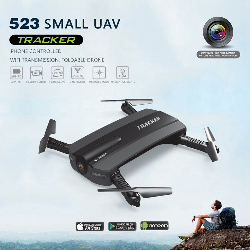 523 Foldable Drone With Camera Phone Control Quadcopter Fpv Rc Helicopter Wifi Mini Dron Copter Selfie Drone