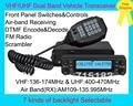 Função múltipla VHF/UHF Dual Band Transceiver Veículo BJ-9900 Com a Air Band 109-135.995 MHz RX e Destacável Painel frontal, FM