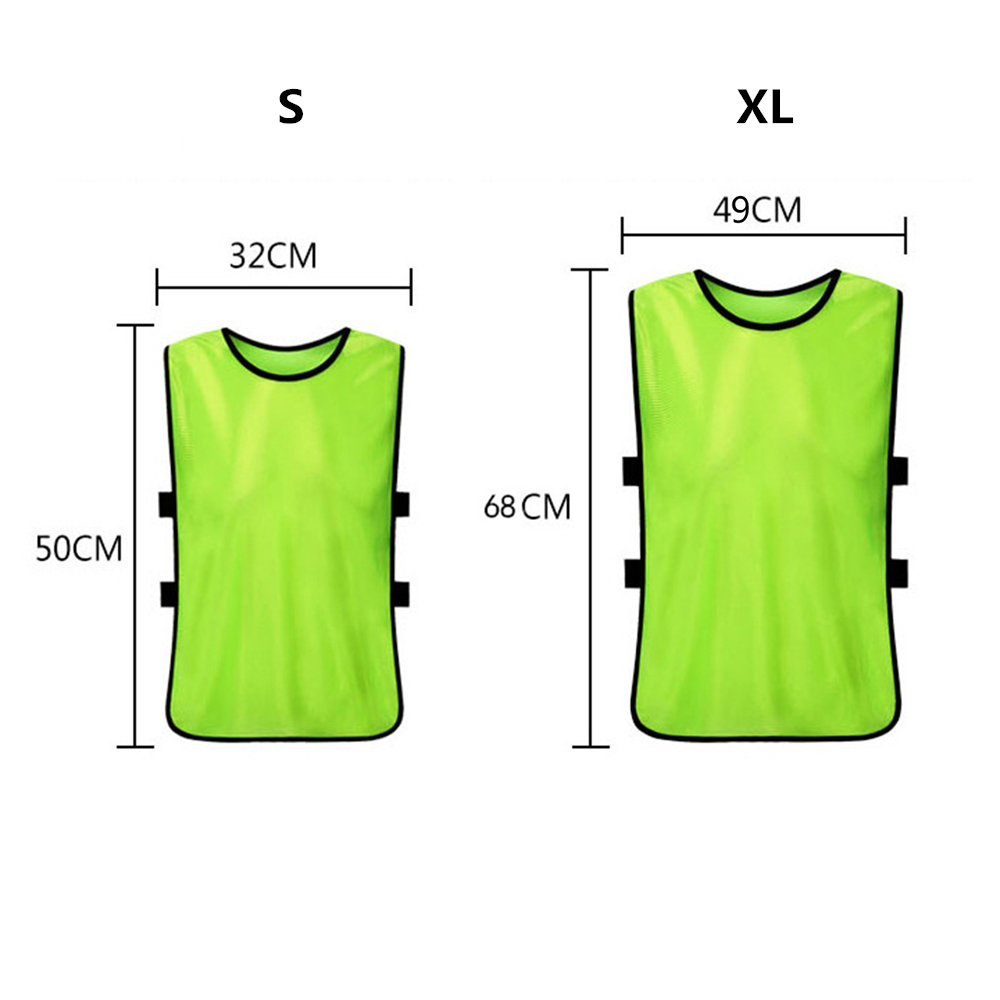 6pcs//12pcs Kids Scrimmage Training Vests Sports Waistcoat Vests for Outdoor Sports Basketball Football Training