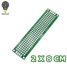 WAVGAT 2x8 см двухсторонний Прототип PCB diy универсальная печатная плата