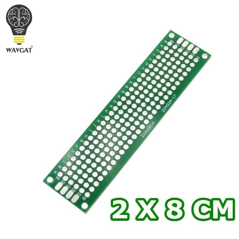 WAVGAT 2x8cm Double Side Prototype PCB Diy Universal Printed Circuit Board
