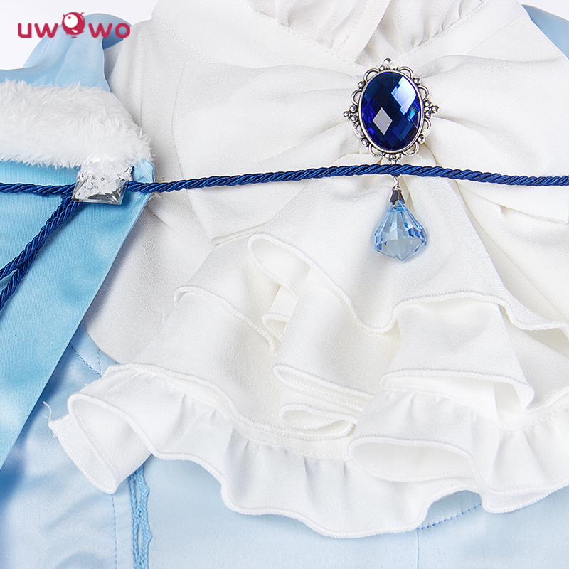 UWOWO Miracle Nikki Costume Spil Dinowo Cosplay Prinsesse Lisa Isblå - Kostumer - Foto 3
