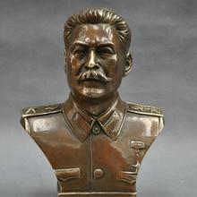 6 ''Российского Лидера Иосифа Сталина Бюст Бронзовая Статуя R0712