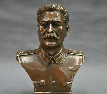 Free Shipping  6'' Russian Leader Joseph Stalin Bust Bronze Statue